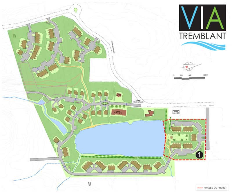 Map tremblant residential project