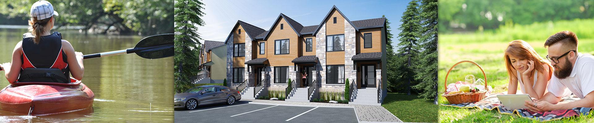 projet cl en main de maisons neuves tremblant promotion via tremblant. Black Bedroom Furniture Sets. Home Design Ideas